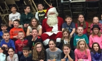 Santa with the bingo kids
