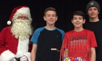 Santa arrived to call bingo numbers!